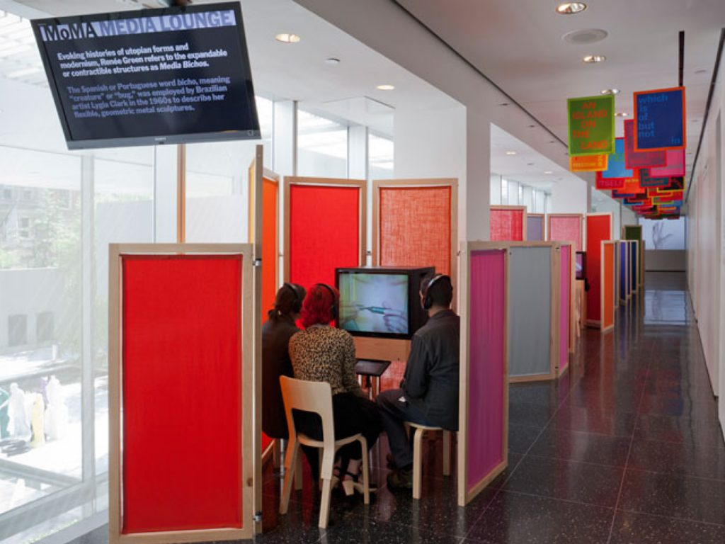 Fig. 1. Installation view of the MoMA Media Lounge, 2012. Photo by Thomas Griesel. Courtesy of MoMA.